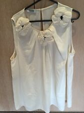 Moschino Cheap And Chic Womens Cream Shirt With Flowers Size 14