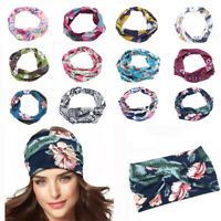 Wide Headband Elastic Bandana Turban Ladies Sport Yoga Hair Band Accessories.