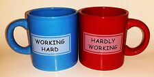 LTD Commodities Red & Blue Working Hard Hardly Working and Ceramic Coffee Cup