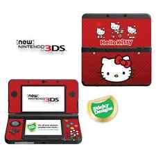 Hello KITTY vinyle peau sticker pour Nouveau Nintendo 3ds (avec c stick) - rouge