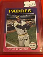 🔥 1975 Topps MINI Baseball Card Set #61 🔥 San Diego Padres 🔥 DAVE WINFIELD