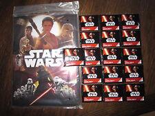 Star Wars Album und 16 Tüten mit Bildern NEU