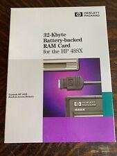 HP 32K RAM CARD Memory Hewlett Packard for 48SX 48GX Calculator - NEW SEALED