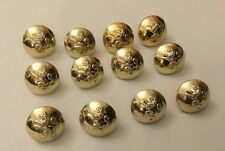 12 X 16mm Gaunt London Gold / Gilt Lion Rampant Buttons Military Livery Jacket