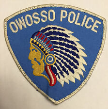 Owosso Michigan MI Police Sheriff Patch Indianhead Indian Head