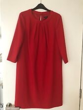 BNWT Jaeger Red Long Sleeved Dress UK 12/ US 10
