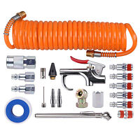 "1/4"" NPT Air Accessory Kit - 20 Piece, Air Compressor Hose Tool kit with Coil PU"