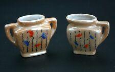 Made in Japan Miniature Lusterware China Pitcher & Vase Set, Tiny Decorative