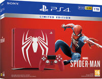 PS4 PLAYSTATION 4 1TB ROJA MARVEL´S + VIDEOJUEGO SPIDERMAN EDICION CUH-2216B
