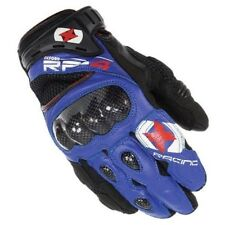 Oxford Rp-4 Short Leather Motorcycle Bike Gloves Blue Black Sports Breathable M