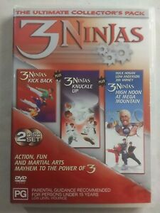 3 NINJAS ULTIMATE COLLECTORS PACK 2 Disc Set DVD Action  FREE POSTAGE...