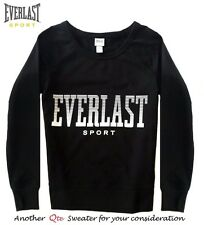 EVERLAST SPORT NEW Black Mid-Weight French Terry Pullover Sweatshirt L QCO