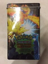Pokemon EX Deck Box  Tin, Legendary Birds, Promos, Packs And Stickers Inside