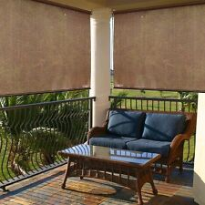 "Roller Blinds For Windows Indoor Outdoor Fabric Sun Shade Porch Patio 72"" x 72"""