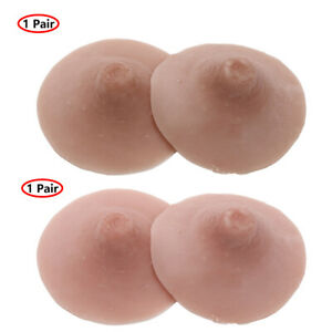 2pcs Self Suction Reusable Washable Silicone Nipple for Breast Form Crossdresser