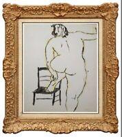 MUGUETTE BASTIDE (né en 1926-) ELEVE DE FERNAND LEGER NU FEMININ (238)