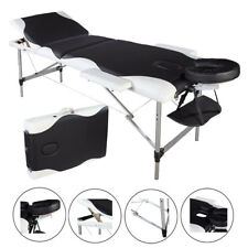 3 Pad Portable Massage Table Facial SPA Bed Tattoo w/Sheet Carry Case Aluminum