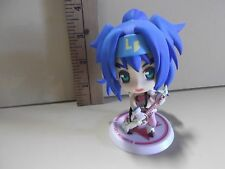 "#A221 Unknown Anime 3.5""in Blue Hair Blue Bandana Playing Guitar Big Head"