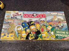 The Simpsons Monopoly Board Game Welcome To Springfield Complete In Box