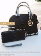 BNWT RRP$294 GUESS KORRY Handbag Shoulder Bag Satchel Wallet Purse Clutch Black