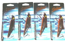 Salmo SK10F Skinner Crankbaits/Jerkbaits (Lot of 4-Starry Night Orange)