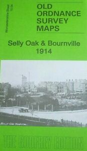 Old Ordnance Survey Map of Selly Oak & Bournville 1914 Worcestershire sht 10.04b
