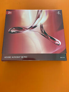 Adobe Acrobat X Pro For Mac w/ Serial Number NEW Retail Package