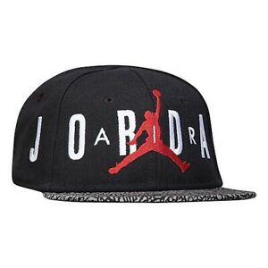 Nike Jordan Infant Air Elephant Print Snapback Hat in Black