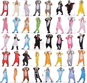 UK Unisex Adult / Kids Animal Jumpsuit Kigurumi PyjamasFancy Dress Sleepwear A1
