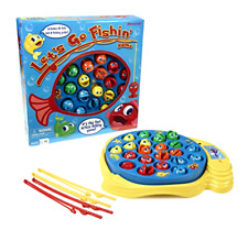 Go Fishin Game Toy Let S Pressman Fishing 4 Action Kids Todlers Lets Board Set .