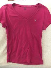 Tommy Hilfiger Women's V-Neck Top Shirt Size L Pink