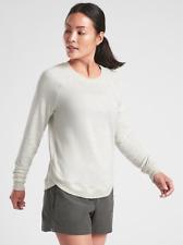 ATHLETA Mindset Sweatshirt Top M MEDIUM Fog Grey Heather SOFT Yoga Workout Shirt