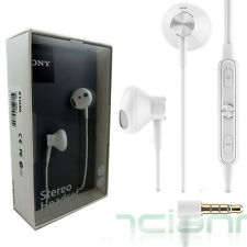 Cuffie+microfono bianche originali Sony impermeabile STH30 per Xperia Z3 Z2