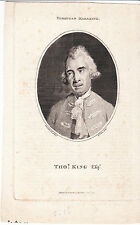 1776 Thomas King (1730-1805), British Actor and Dramatist - Four Antique Prints