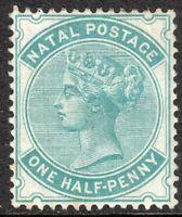 South Africa Natal 1880 blue-green 1/2d crown CC mint SG96