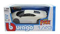 burago New 1/43 Diecast Lamborghini Reventon Coupe in White Street Fire'