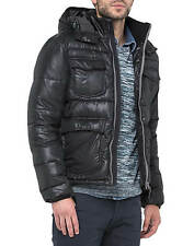 Lee New Men's Hooded Puffer Jacket Black M L XL XXL Padded Coat