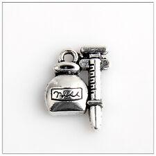 30 Grain Scale Tibetan Silver Charms Pendants Jewelry Making Findings 19E5C2F