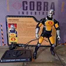 GI JOE ~ 2011 COBRA DE ACO ~ STEEL COBRA ~ MISSION BRAZIL JOECON ~ 100% & CARD