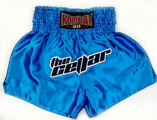 Kombat Gear The Cellar Satin Muay Thai Boxing Mma Shorts, Blue Size M