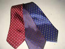 lot de 3 cravates homme à pois bleu marine violet bordeaux collection giovanni