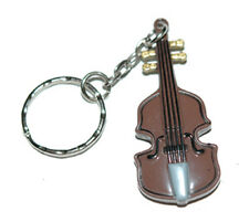 GUITAR VIOLIN CELLO STRING BASS MUSIC KEY CHAIN (KC017)