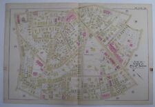 1890 HAND COLORED LINEN City Map #28- BOSTON MA -Bromley ATLAS-Massachusetts-2pg