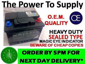 SAAB 9-3 2.0 2.3 CAR Battery NEW Extra Heavy Duty 60Ah NEXT DAY DEL ORDER BY5PM