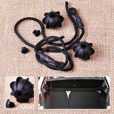 2pcs Rear Interior Parcel Shelves Tonneau Cover Strap String Fit For VW Golf Mk5
