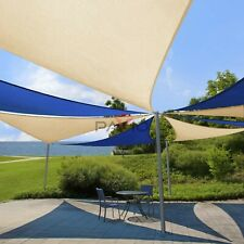 New listing 24' x 24' x 24' Blue Sun Shade Sail Triangle Outdoor Canopy for Patio Lawn Yard