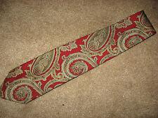 Mens NWOT Red Paisley J CREW Silk Tie Necktie