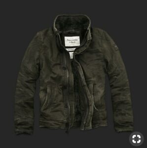 A&F Abercrombie & Fitch Men's Adirondack Jacket Size S Small - Color Olive