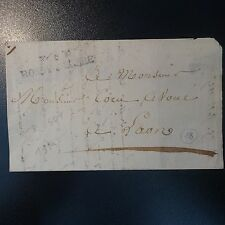 FRANCE MARQUE POSTALE LETTRE COVER P2P ROSOY-S-SERRE 1825