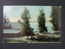 Pine Lake Indiana IN Pavillon Bluffside Beach Antique Postcard 1907-15
